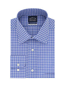 Long Sleeve Tek Fit Check Dress Shirt