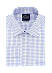 Long Sleeve Stretch Plaid Dress Shirt