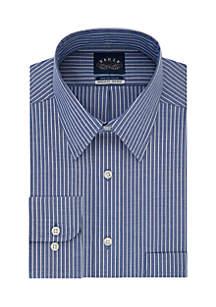 Stretch Collar Bold Stripe Dress Shirt