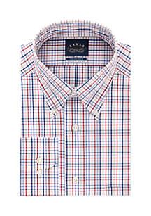 TEK Fit Multi-Check Button Down Shirt