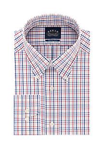 Big & Tall Stretch Collar Check Button Down Dress Shirt