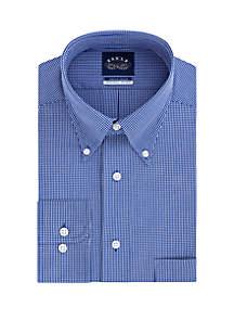 Eagle Micro Checked Cotton Long Sleeve Shirt