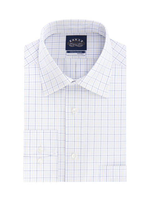 Eagle Mens Non Iron Stretch Collar Check Print