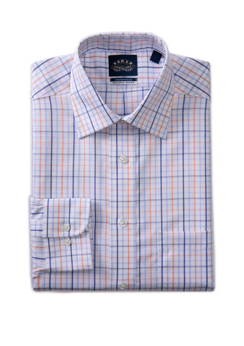 Eagle Mens Regular Fit Stretch Collar Button Down