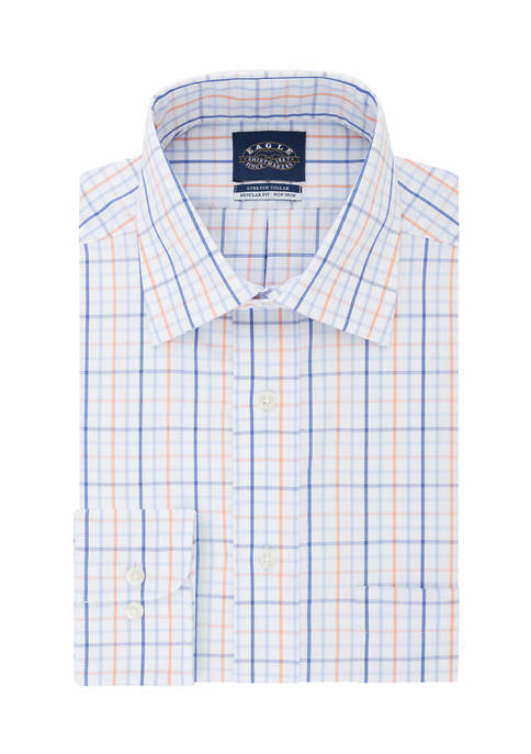 Big & Tall Fit Non Iron Check Print Dress Shirt