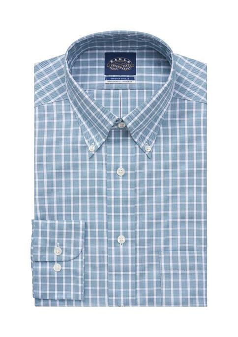 Eagle Regular Fit Non-Iron Stretch Collar Plaid Shirt