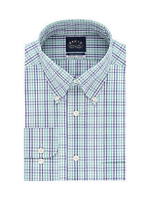 Eagle Big and Tall Stretch Collar Button Down Check Dress Shirt