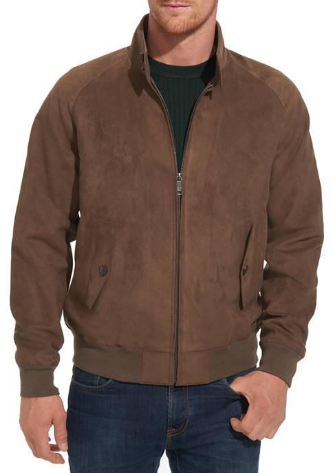 Mens  Microsuede Baracuta Jacket
