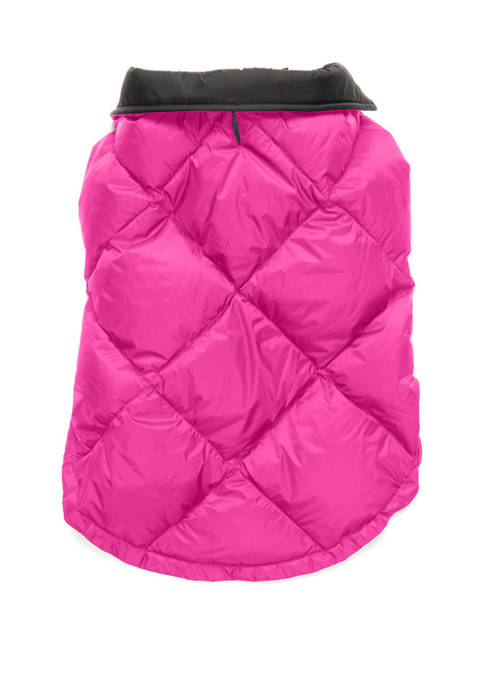 Diamond Quilt Packable Dog Coat