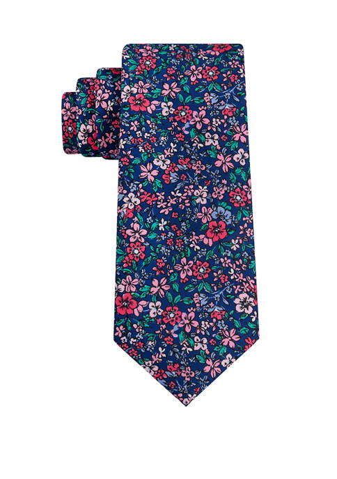 Madison Fancy Printed Floral Necktie
