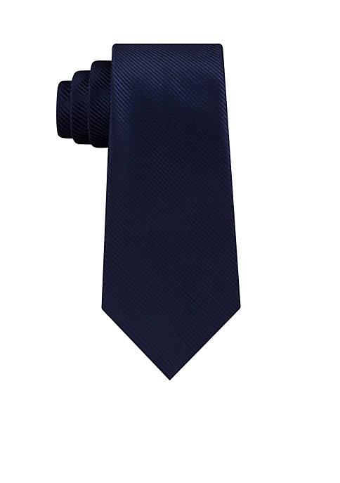 Madison Bias Stripe Solid Neck Tie