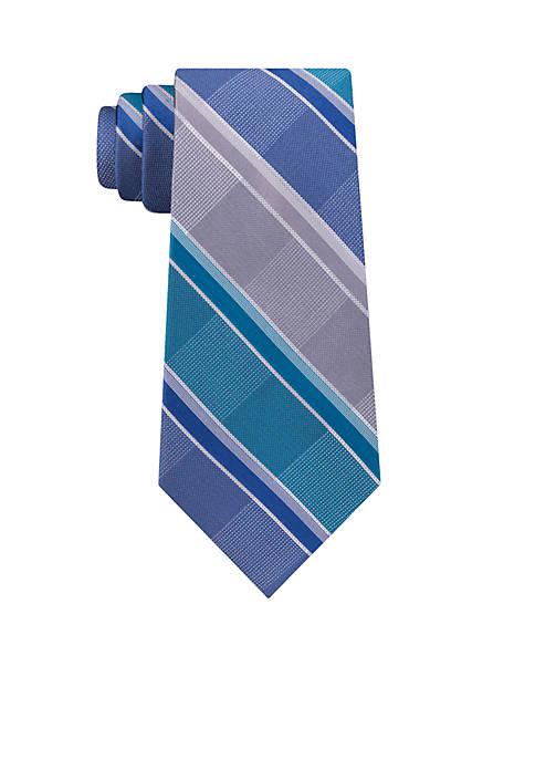Madison High Low Plaid Neck Tie