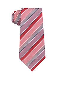 White Track Stripe Tie