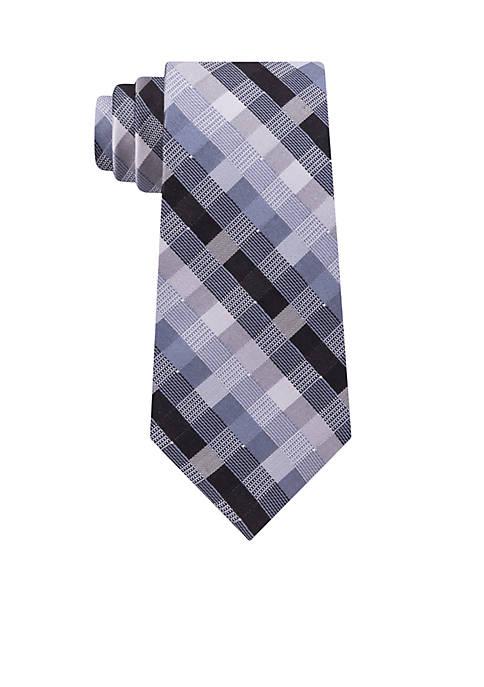 Madison Checker Geometric Necktie