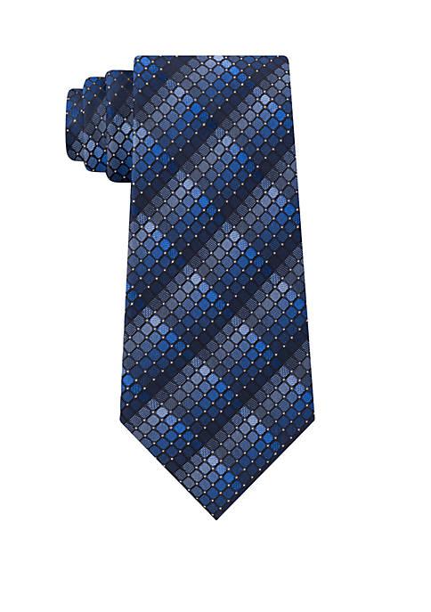Madison Fine Line Geometric Neck Tie