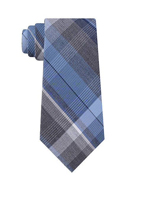 Madison Carbon Plaid Tie