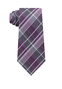 Chalk Plaid Neck Tie