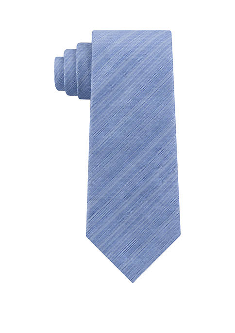 Striated Solid Tie