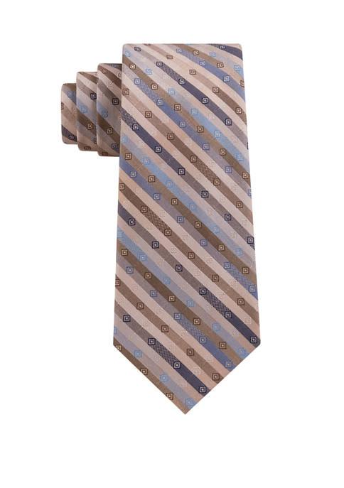 Madison Mens Shadow Geometric Print Tie