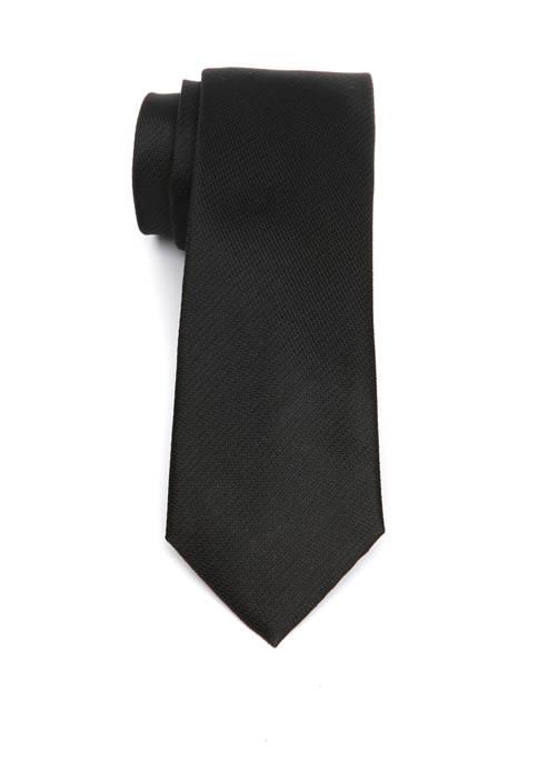 Block Twill Texture Tie