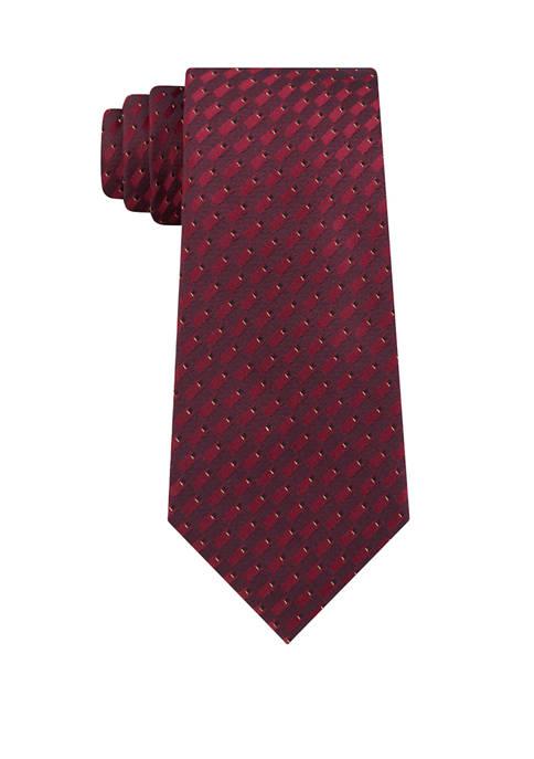 Madison Metal Neat Print Tie