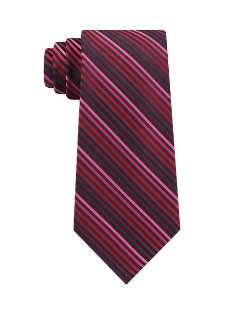 Madison Mens Tight Ombre Striped Tie