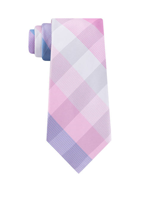 Madison Mens Modern Check Print Tie