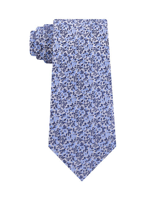 Madison Mens Micro Floral Print Tie