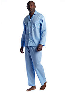 Solid Long Sleeve Long Leg Pajama Set