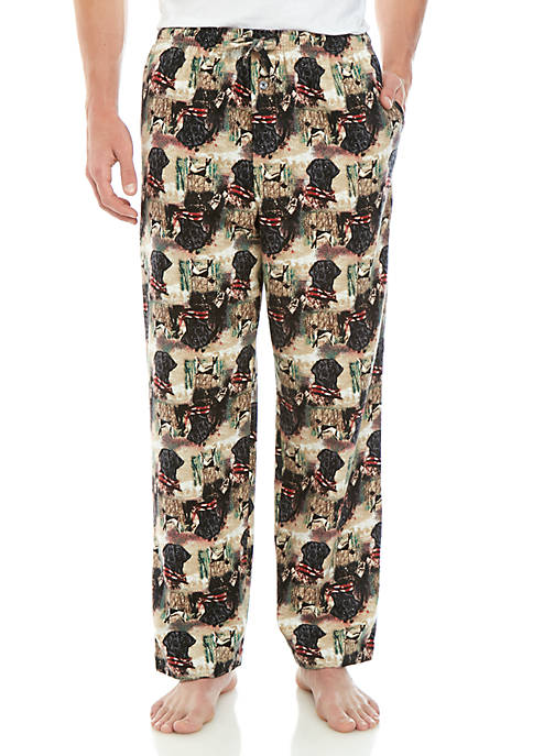 Saddlebred® Black Lab Flannel Sleep Pants