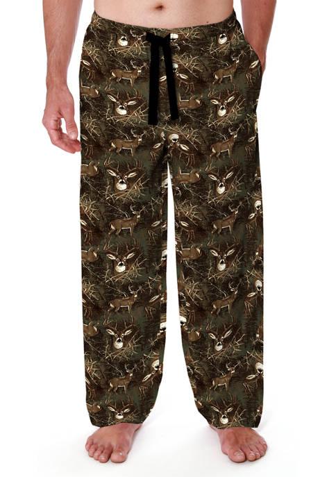 Flannel Lounge Pants - Camo Deer