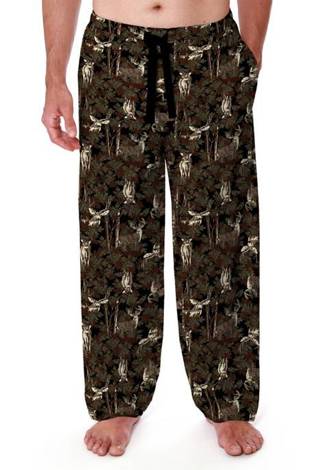 Flannel Lounge Pants- Black Deer
