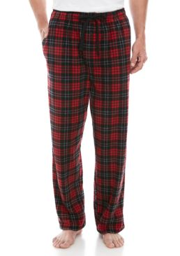 Saddlebred Men's Big & Tall Plaid Micro Fleece Sleep Pants