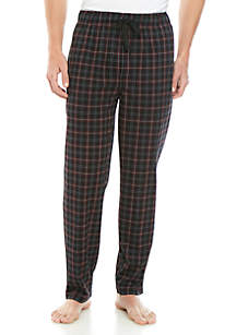 Saddlebred® Grid Print Knit Sleep Pants