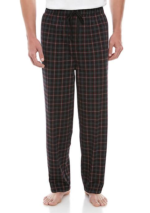 Big & Tall Plaid Knit Sleep Pants