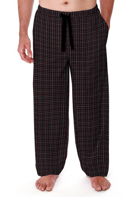 Knit Lounge Pants- Black Grid