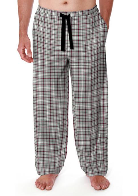 Knit Lounge Pants- Grey Grid
