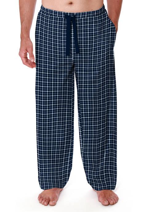 Knit Lounge Pants- Blue Plaid