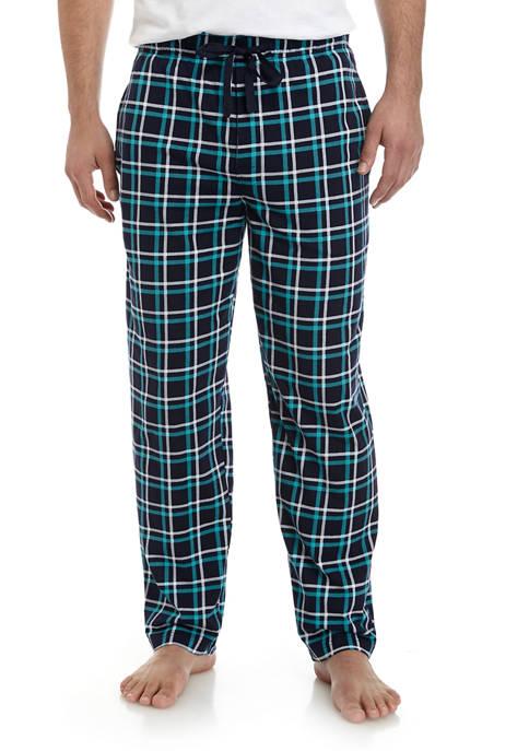 Saddlebred® Mens Navy Blue Plaid Pants