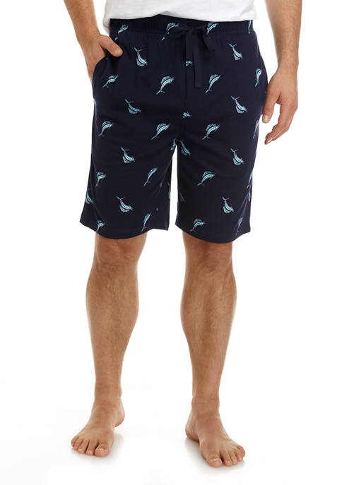 Mens Marlin Print Shorts
