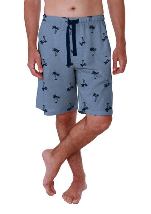Saddlebred® Big & Tall Printed Jersey Pajama Shorts