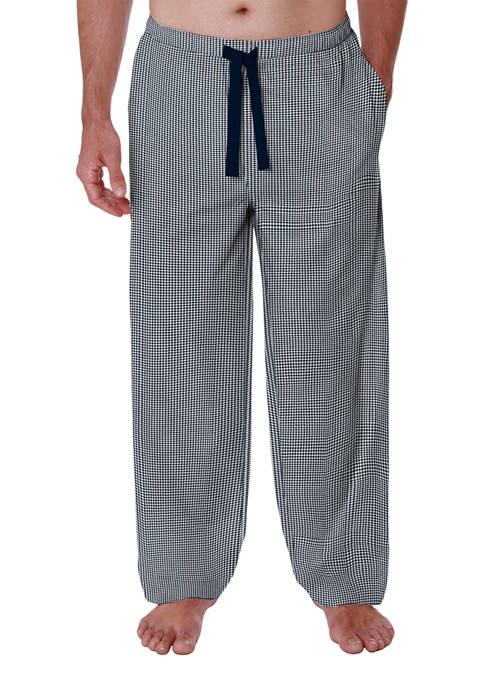 Woven Gingham Pajama Pants