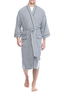 Big & Tall Nailhead Waffle Weave Robe