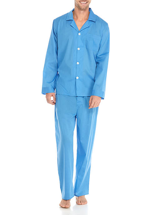 Saddlebred® 2-Piece Long Sleeve Solid Pajama Set