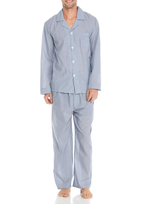 Saddlebred® Long Sleeve Striped Pajama Set