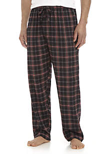 Black and Red Plaid Flannel Sleep Pants