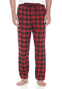 Yarn Dyed Flannel Buffalo Plaid PJ Pants