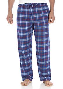 Big & Tall Yarn Dyed Plaid Flannel PJ Pants
