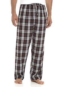 Black and Grey Heather Print Plaid Sleep Pants