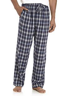 Blue Heather Flannel Sleep Pants